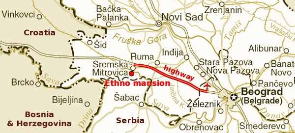 Ethno mansion Map