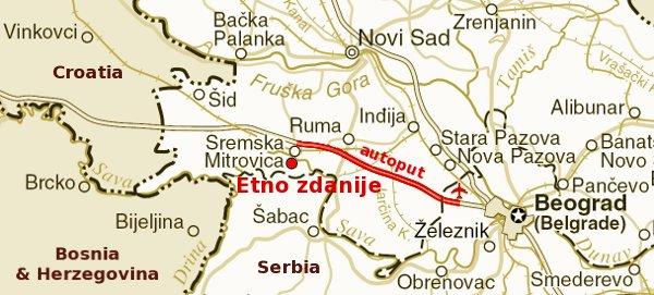 Etno Zdaniјe Mapa